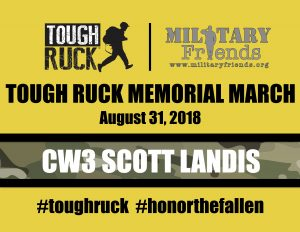 Tough Ruck Bib Memorial March CW3 Scott Landis