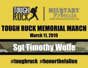 Tough Ruck Bib Memorial March Sgt Timothy Wolfe